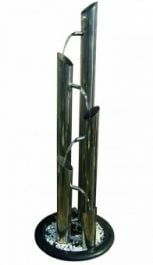 Agra Stainless Steel Tubes Water Feature W37cm x H115cm