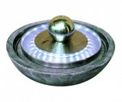 Kolkata Stainless Steel Water Feature with Lights D59cm x H34cm