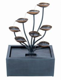 Roma Zinc Metal Cascading Water Feature W50cm x H76cm