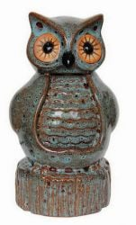 Renata Ceramic Owl Water Feature W15.5cm x H28cm