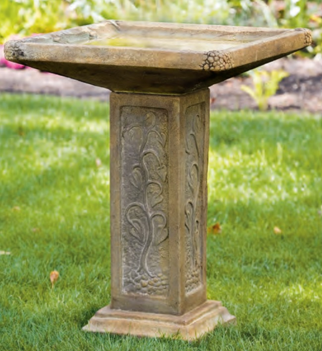 83cm Large Square Bird Bath
