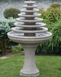 7 Tier Gozo Fountain on Pedestal