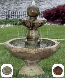 Opal Octagonal Fountain in Everglade Stone W62cm x H86cm
