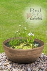 Semi Shade Pond in a Pot Kit with Brown Stone Resin 55.5cm Planter