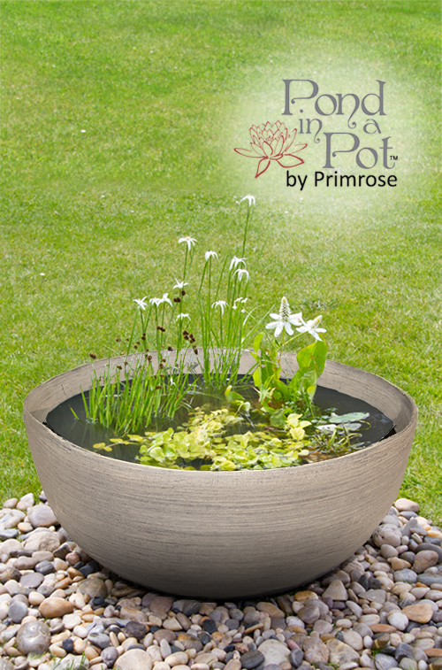 Semi Shade Pond in a Pot Kit with Grey Stone Resin 55.5cm Planter