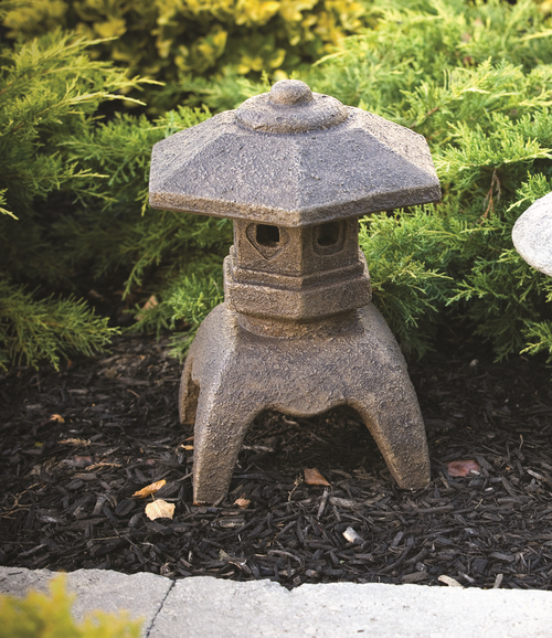 Flat Top Pagoda Cast Stone Ornament H41cm x W28cm