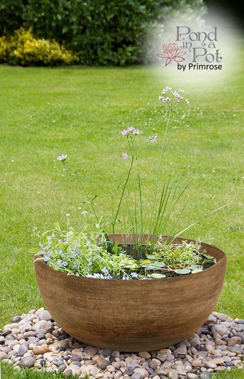 Wildlife Friendly Pond in a Pot Kit with Brown Stone Resin 55.5cm Planter