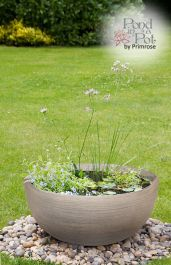 Wildlife Friendly Pond in a Pot Kit with Grey Stone Resin 55.5cm Planter