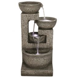 Large Grey 4 Bowl LED Water Feature