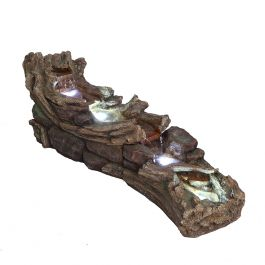 L150cm Kingston Slate River Cascading Water Feature with Lights