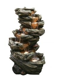 H61cm 7 Fall Woodland Cascading Fountain with Lights