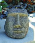 Small Easter Island Cast Stone Bust H18cm x W15cm