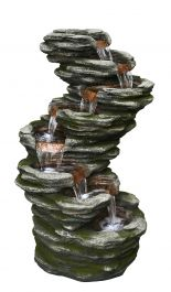 H58cm 7 Fall Slate Water Feature with Lights