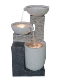 H42cm Vienna Pouring Bowls Cascading Water Feature with Lights