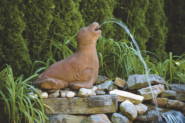 Seal Spitter Cast Stone Water Feature H55cm x W47cm