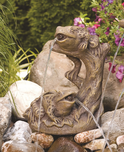 Garden Frogs Spitter Cast Stone Water Feature H35cm x W28cm