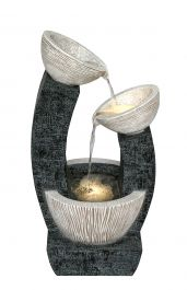 H80cm Alvor Pouring Bowls Cascading Water Feature with Lights