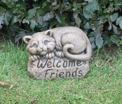 Welcome Friends Felix Cast Stone Ornament H20cm x W15cm