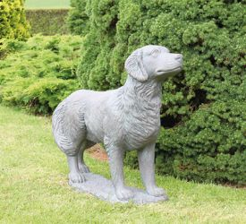 Golden Retriever Cast Stone Statue H74cm x W23cm