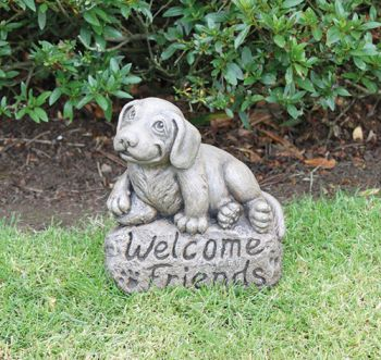 Welcome Friends - Cast Stone Beagle Ornament H26cm x W22cm