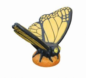Orange Large Butterfly- Detailed Finish Cast Stone Statue H56cm x W67cm