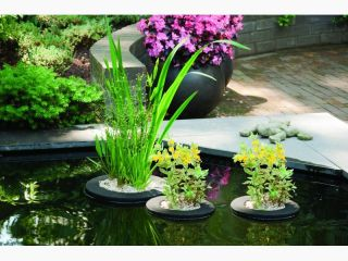 D25cm Plant Island Round Floating Pond Planter
