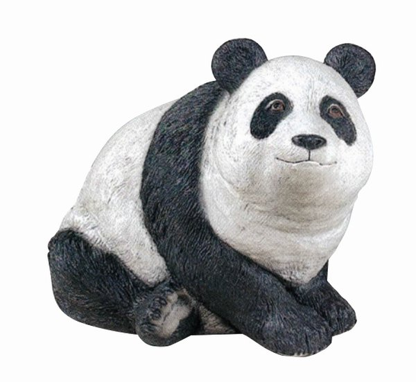 Panda Bear- Detailed Finish Cast Stone Statue H39cm x W46cm