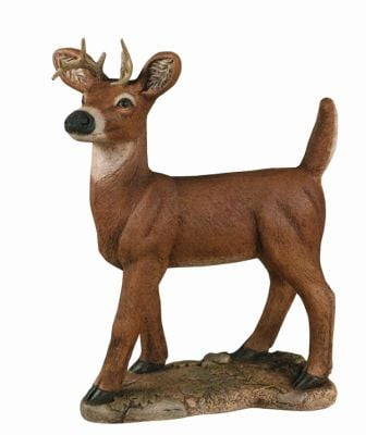 Standing Deer- Detailed Finish Cast Stone Ornament H83cm x W24cm