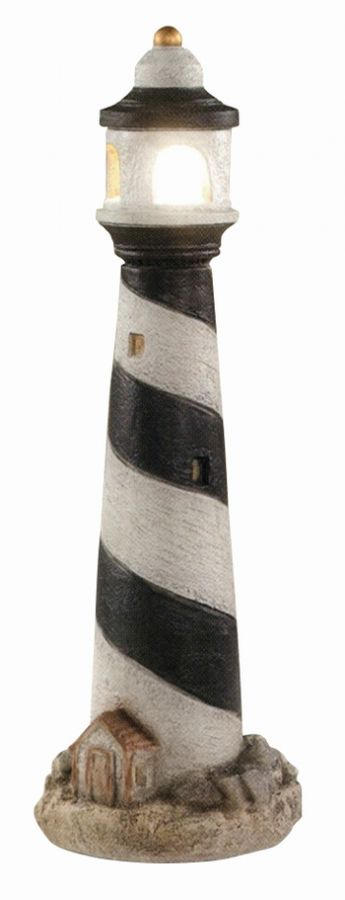 Lighthouse- Detailed Finish Cast Stone Sculpture H87cm x W30cm