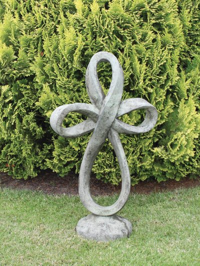 Eternity Cross Cast Stone Sculpture H98cm x W56cm