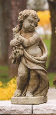 Cast Stone Four Season Statue - Summer H61cm x W20cm