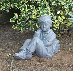 Seedlings Boy Sleeping Cast Stone Statue H41cm x W25cm