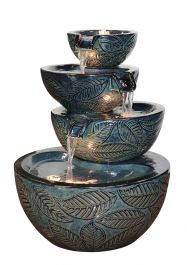 H53cm Albacete Ceramic Fountain Water Feature with Lights