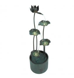 H26cm Vasto Zinc Metal Water Feature