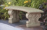 Verona Curved Cast Stone Bench W4ft 7in x H1ft 6in