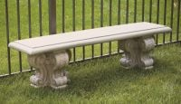 Cast Stone Curved Bench W4ft 2in x H1ft 6in