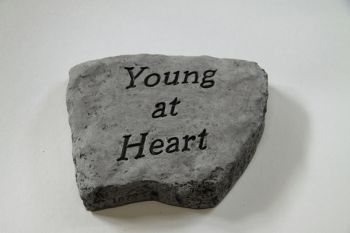 Young at Heart Cast Stone Garden Greeting Ornament H15cm x W20cm