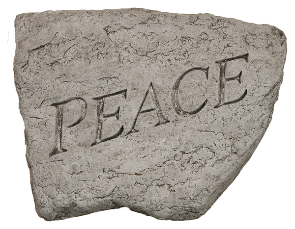 Peace Cast Stone Garden Greeting Ornament H15cm x W20cm