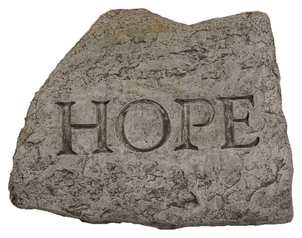 Hope Cast Stone Garden Greeting Ornament H15cm x W20cm