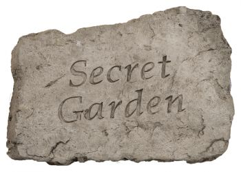 Secret Garden Cast Stone Garden Greeting Ornament H18cm x W25.5cm