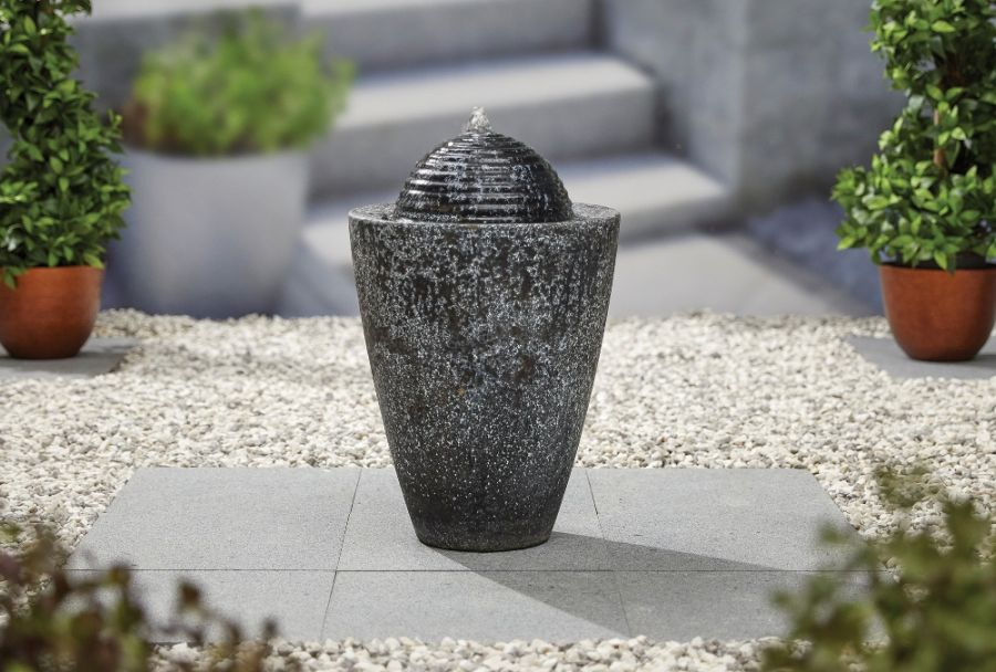 H62.5cm Dappled Column Water Feature