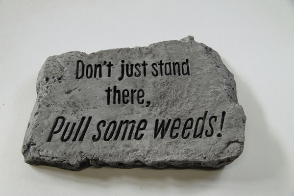Don't Just Stand There Pull Some Weeds Cast Stone Garden Greeting Ornament H18cm x W25.5cm