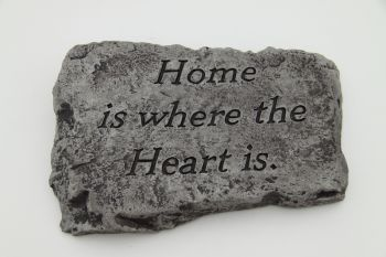 Home is Where the Heart is Cast Stone Garden Greeting Ornament H18cm x W25.5cm