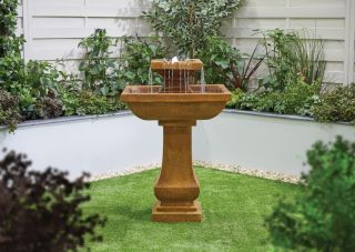 H200cm Solstice 2-Tier Water Feature with Lights