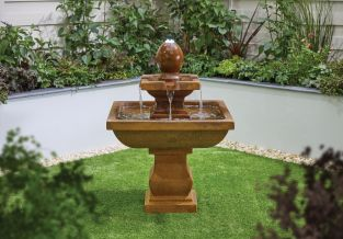 H93cm Odyssey 2-Tier Water Feature with Lights