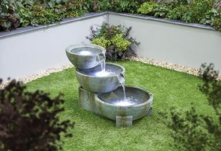 H50cm Oasis Cascading Bowls Water Feature with Lights