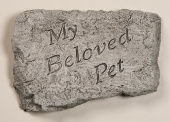 My Beloved Pet Cast Stone Garden Greeting Ornament H18cm x W25.5cm