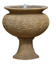 H80cm RHS Rosemoor Vase Stone Water Feature with Lights