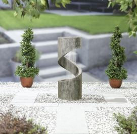 H104cm Spiral Showers Water Feature with Lights