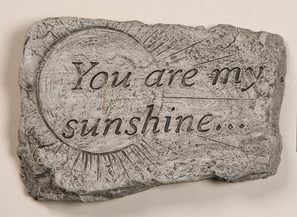 You Are My Sunshine Cast Stone Garden Greeting Ornament H18cm x W25.5cm